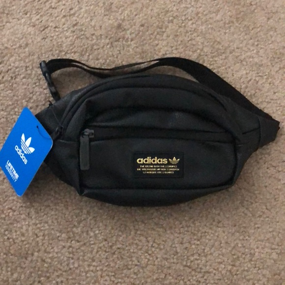 2cec892aee Adidas Originals Black   Gold Waist Fanny pack